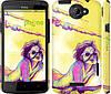 """Чехол на HTC One X+ Нарисованная девушка """"2835c-69"""""""