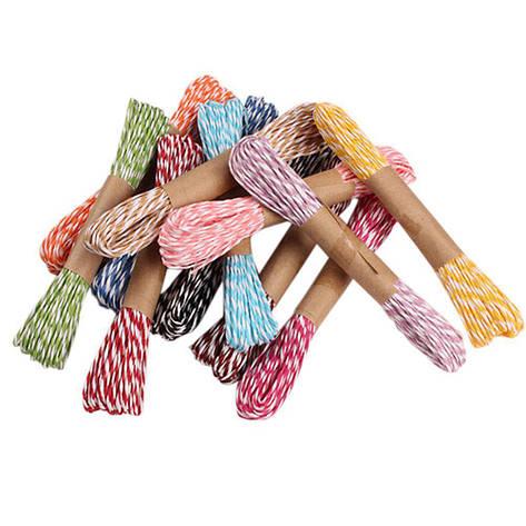 Верёвка из бумаги (плетеная веревка/шнур), 10м/моток (цвет:зелёный), фото 2