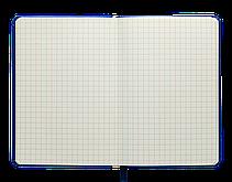 Блокнот деловой INGOT 95x140мм, 80л., клетка, обложка искусственная кожа, голубой, фото 3