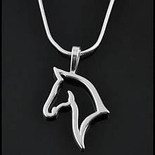 """Кулон/подвеска """"Лошадь"""" + цепочка-змейка (УЦЕНКА! Дефект! Подробнее на фото и в описании!)"""