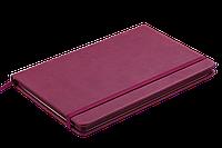 Блокнот деловой PROFY LOGO2U 125x195мм, 80л., клетка, обложка искусственная кожа, бордовый