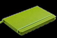 Блокнот деловой PROFY LOGO2U 125x195мм, 80л., клетка, обложка искусственная кожа, салатовый