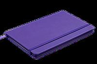 Блокнот деловой PROFY LOGO2U 125x195мм, 80л., клетка, обложка искусственная кожа, фиолетовый