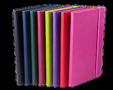 Блокнот деловой PROFY LOGO2U 125x195мм, 80л., клетка, обложка искусственная кожа, фиолетовый, фото 3