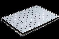Блокнот деловой RELAX А5, 96л., клетка, обложка искусственная кожа, серебристый