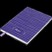 Блокнот деловой RELAX А5, 96л., линия, обложка искусственная кожа, фиолетовый