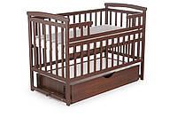 Кровать детская Детский сон с шухлядой, темный орех