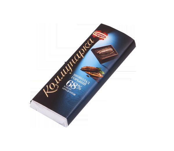 Шоколад Комунарка горький 68% 20г.