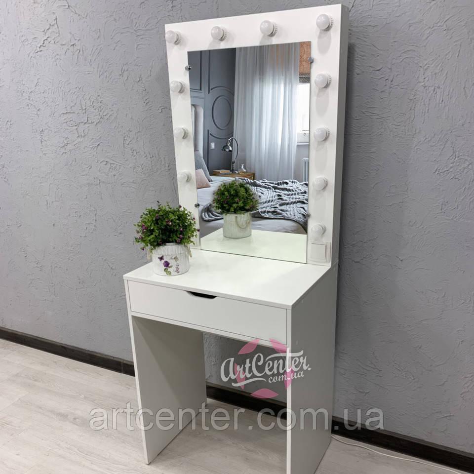 Компактный стол для макияжа с зеркалом