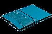 Блокнот деловой TRAVEL LOGO2U А5, 96л., клетка, обложка искусственная кожа, бирюзовый