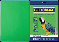 Бумага цветная А4, 80г/м2, INTENSIV, зеленый, 50л.