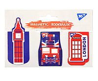 """Закладки магнітні YES """"London"""", висікання, 3шт, фото 1"""