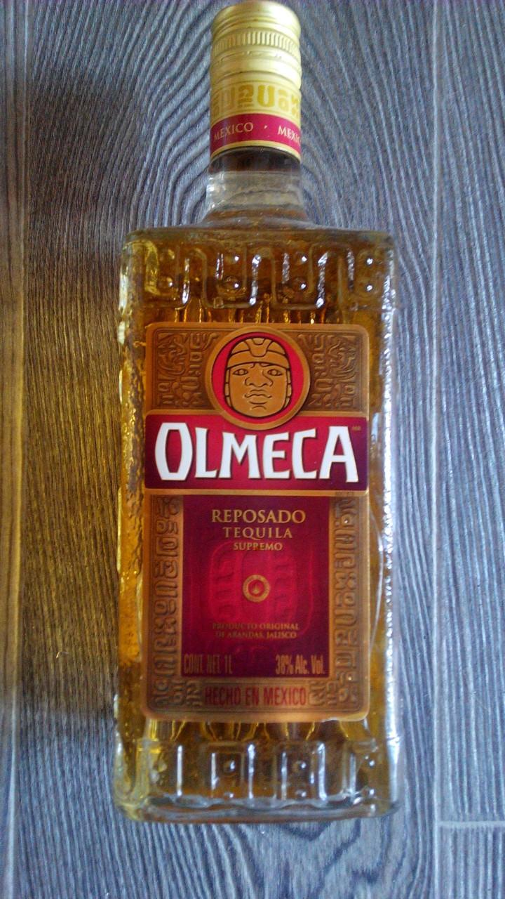 Текила Олмека Репосадо Золотая, 1л, Мексика