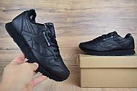 Мужские кроссовки в стиле Reebok Classic черные зимние
