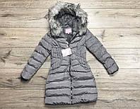 Зимнее пальто на синтепоне. Внутри мех-травка. 12- 16 лет.