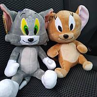 Том и Джери, мягкие игрушки, с популярного мультфильма, качественные, хорошо прошитые, модные, популярные