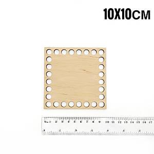 Донышко деревянное квадратное 10*10 см