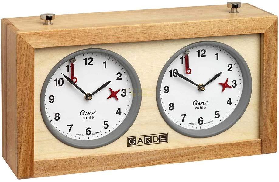 Дерев'яний классичний годинник для шахів Philos 4668 Garde