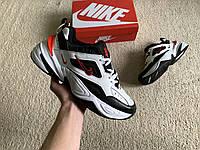 Мужские кроссовки Nike M2k Tekno в стиле Air Monarch White/Black/Red белые черные красные