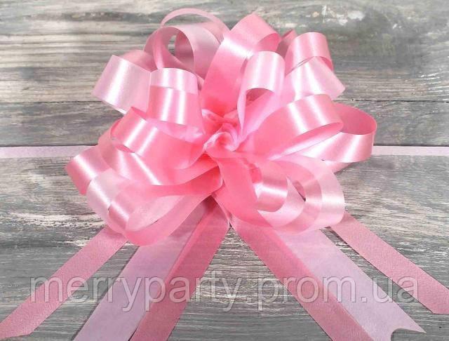 Бант-затяжка (ш. ленты 4,5 см, д.17 см) светло-розовый для упаковки подарков полипропилен