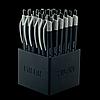 Ручка кулькова FINE LINE, 0.7мм, дисплей 24шт, чорний