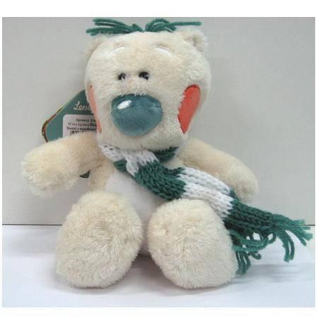 Мягкая игрушка маленький мишка Хэппи с шарфиком, фото 2