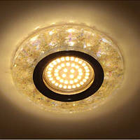 Светильник встраиваемый с LED подсветкой Feron 8585-2 жёлтый под лампу Mr16