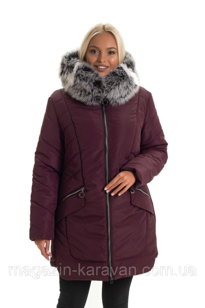 Женская длинная зимняя куртка (50-62)
