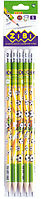 Карандаш графитовый GOAL HB, с ластиком , туба, KIDS Line