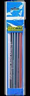 Карандаш графитовый, треугольный НВ, ассорти, с ластиком, туба