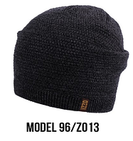Шапка Ozzi caps № 96, шапка-колпак темно-серый/zo13