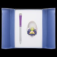 """Набір подарунковий """"Fairy Tale"""": ручка (К) + гачок д/ сумки, фіолет."""