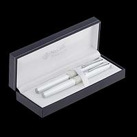 Комплект ручок (перо+ролер) в подарунковому футлярі L, білий