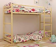 Кровать деревянная двухъярусная Барни 90х200 Mebigrand сосна ольха