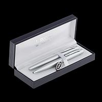 Комплект ручок (перо+кулькова) у подарунковому футлярі L, хром, фото 1