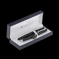 Комплект ручок (перо+кулькова) в подарунковому футлярі L, чорний