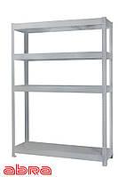 Стеллаж металлический для склада/магазина/гаража ЧК-300 1960х1440х460, покрашен.,4 полок ЛДСП, до 440 кг/полку