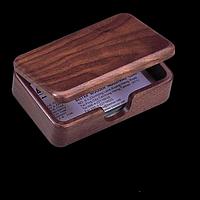 Контейнер для візиток дерев'яний, горіх