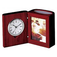 Прилад настільний (годинник, фоторамка, підставка), червоне дерево