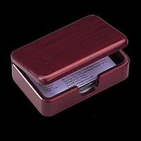 Контейнер для візиток дерев'яний, червоне дерево
