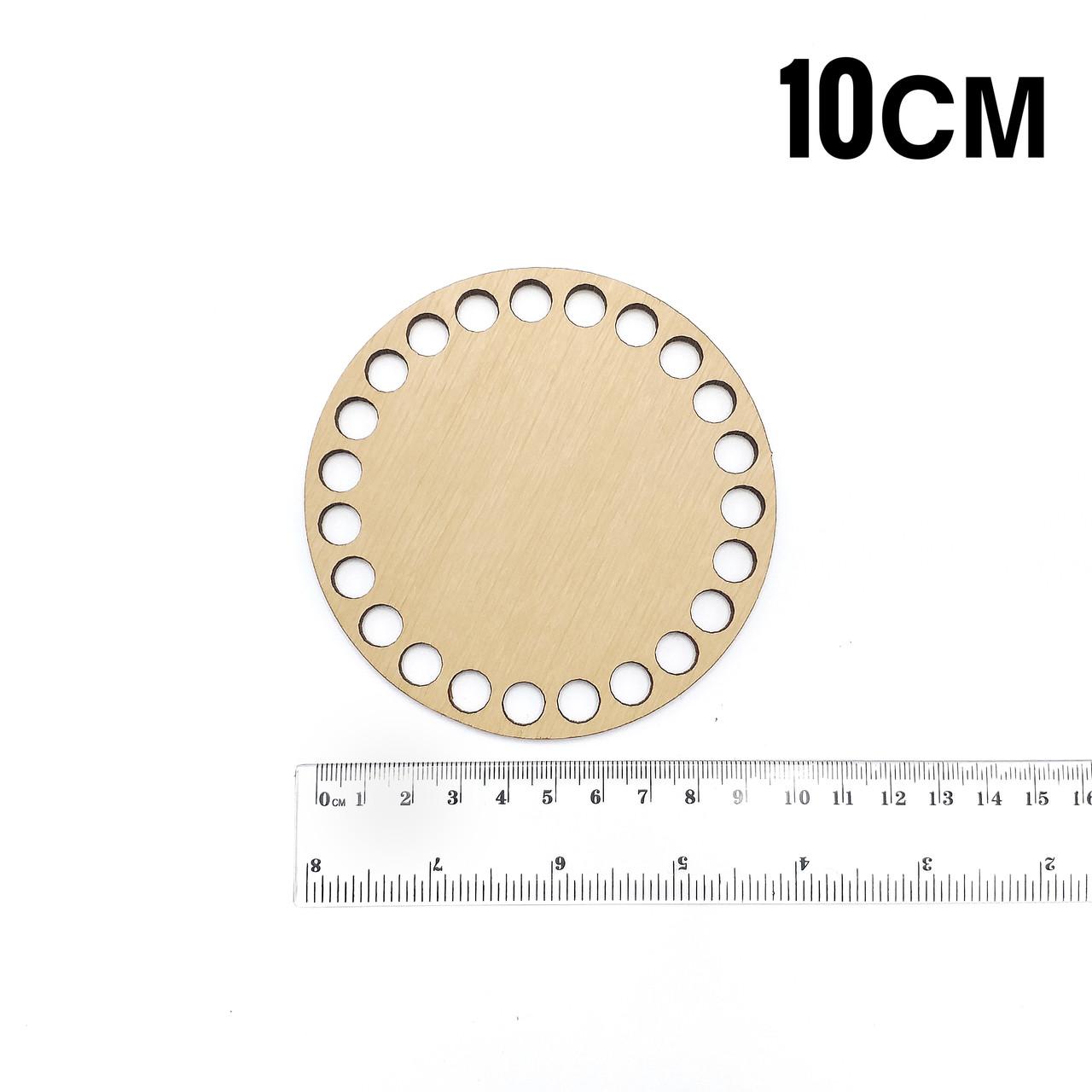 Донышко деревянное круглое диаметр 10см