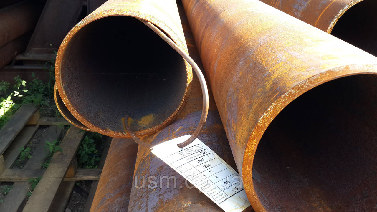 Труба 219х10 мм. горячекатаная ст.10; 20; 35; 45; 17Г1С; 09Г2С. ГОСТ 8732-78