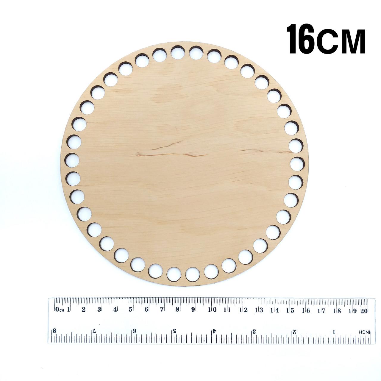Донышко деревянное круглое диаметр 16 см