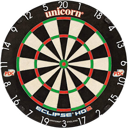 Дартс мишень - Unicorn Eclipse HD2 Bristle Dartboard 79448 табло, фото 2
