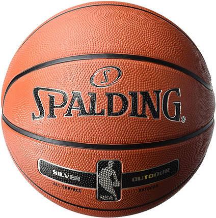 Баскетбольный мяч - Spalding NBA Silver Outdoor SZ.5 (83-568Z), фото 2