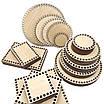 Круглое донышко деревянное для вязаных корзин диаметр 40 см, фото 2