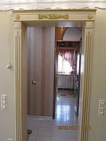 Портал межкомнатный деревянный с декором.