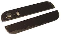 Стекло задней панели iPhone 5S верх и низ, черное