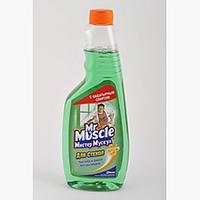 """Засіб для миття скла """"Містер Мускул"""", змінна пляшка, 500 мл, зелений"""