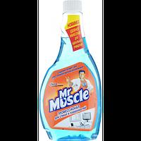 """Засіб для миття скла """"Містер Мускул"""", змінна пляшка, 500 мл, синій"""